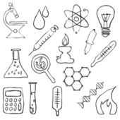 Sketch laboratory images — Stock Vector