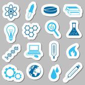 Adesivi di scienza — Vettoriale Stock