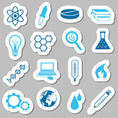 Science stickers — Stockvektor