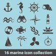 Marine icons — Stock Vector