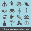 Royalty-Free Stock Vector Image: Marine icons
