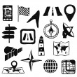 Doodle navigation images — Stock Vector