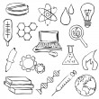 Sketch science images — Stock Vector