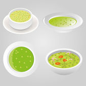 Pea soup collection — Stock Vector