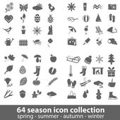 Season icons — Stok Vektör