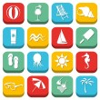 Beach icons — Stock Vector #21069745