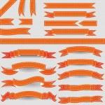 Orange ribbons — Stock Vector #21069919