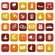 Holiday icons — Vecteur #21070295