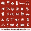 Stok Vektör: Holidays and events icons