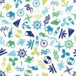 Seamless marine pattern — Vector de stock #21070673
