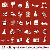 Holidays and events icons — Stock Vector
