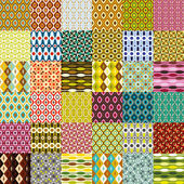 Big retro pattern collection — ストックベクタ