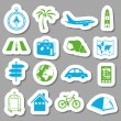 Travel stickers — Vector de stock #22017949