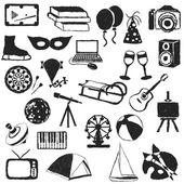 Imagens de entretenimento doodle — Vetorial Stock