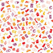 Holiday and events seamless pattern — Stock Vector