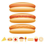 Hotdog collection — Stock Vector