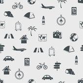 ταξίδια άνευ ραφής μοτίβο — Διανυσματικό Αρχείο