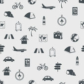 Seamless travel pattern — Stockvektor