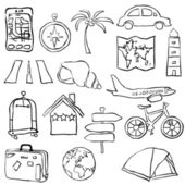 Travel sketch images — Stock Vector