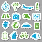 ταξίδια αυτοκόλλητα — Διανυσματικό Αρχείο