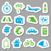 Travel stickers — Stok Vektör