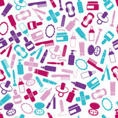 Drugstore seamless pattern — Stock Vector