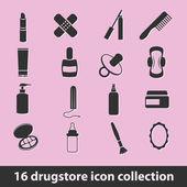 Drugstore icons — Stock Vector