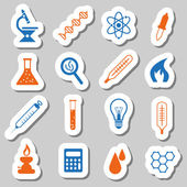 Laboratory stickers — Stock Vector