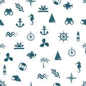Seamless marine pattern — Stock Vector
