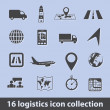 Logistic icons — Image vectorielle