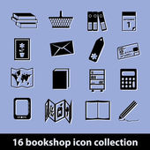 Bookshop icons — Stock Vector