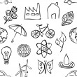 Sketch environment seamless pattern — Stockvektor