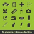 Vettoriale Stock : Pharmacy icons