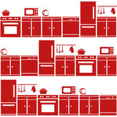 Kitchen equipment seamless pattern — Stock Vector