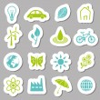 Environment stickers — Stock Vector
