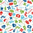 Stok Vektör: Medical seamless pattern
