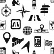 Doodle seamless navigation pattern — Stock vektor