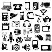 Doodle εικόνες της σύγχρονης τεχνολογίας — Διανυσματικό Αρχείο