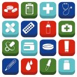 Stock Vector: Pharmacy icons