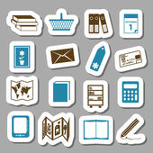 Bookshop stickers — Stock Vector