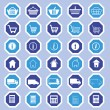 E-shop icons — Stock Vector