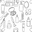 Sketch drugstore seamless pattern — Vettoriali Stock