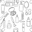 Sketch drugstore seamless pattern — 图库矢量图片