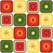 Seamless fruits pattern — Imagen vectorial