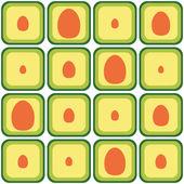 Seamless avocado pattern — Stock Vector