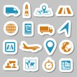 Logistic stickers — Stock Vector