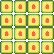 Stock Vector: Seamless avocado pattern