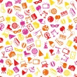 Stok Vektör: Entertainment seamless pattern