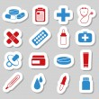 Pharmacy stickers — Vettoriali Stock