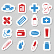 Pharmacy stickers — Stock Vector